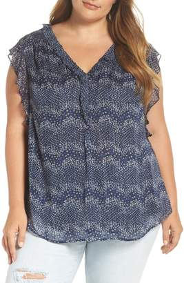 Daniel Rainn Bar Back Ruffle Blouse