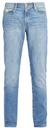 Frame L'homme Washed Slim Fit Jeans - Mens - Light Blue