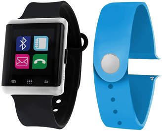 ITOUCH Itouch Air Interchangeable Band Set Black / Light Blue Unisex Multicolor Smart Watch-Jcp5554s724-Btu