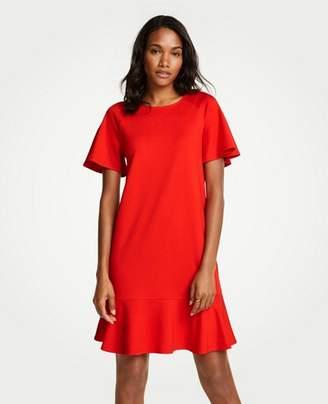 Ann Taylor Flounce Shift Dress