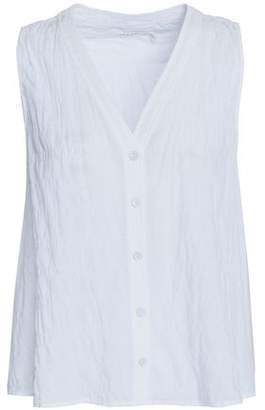 Rag & Bone Crinkled Stretch-Cotton Top