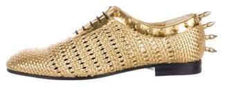 Gucci Metallic Studded Oxfords w/ Tags