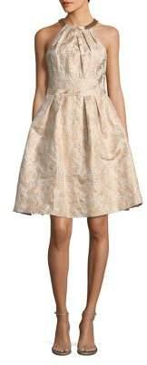 Calvin Klein Metallic Brocade Party Dress