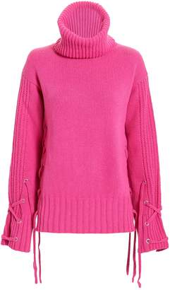 McQ Lace-Up Pink Sweater