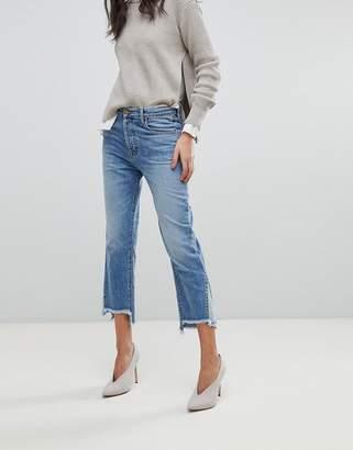 J Brand Wynne Crop Straight Leg Jean With Raw Hem