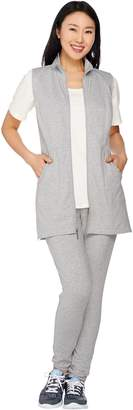 Denim & Co. Active Regular French Terry Tunic Vest and Pant