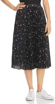 Parker Jacinta Pleated Heart-Print Skirt