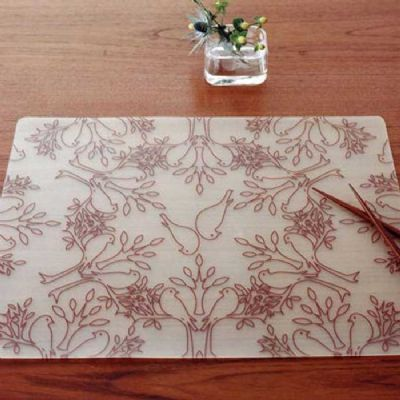 Placemat Birds N Trees Brown