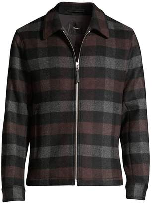 Theory Wyatt Mosaic Plaid Zip Jacket