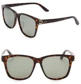 Cartier 55MM Square Sunglasses