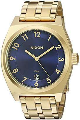 Nixon Women's A3252216-00 Monopoly Analog Display Japanese Quartz Gold-Tone Watch