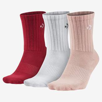 Converse Embroidered Crew Unisex Socks (3 Pack)