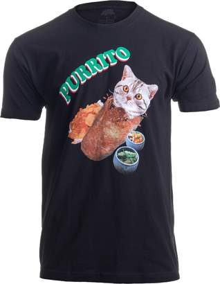 Co Ann Arbor T-shirt Purrito | Cat in a Burrito Funny Mexican Food Kitty Salsa Guac Kitten T-shirt-(Adult,XL)