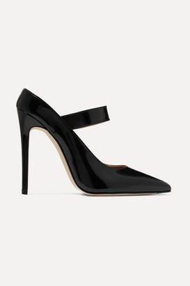 Victoria Beckham Solar Glossed-leather Mary Jane Pumps - Black