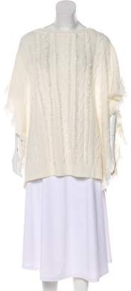 Ralph Lauren Purple Label Cashmere Fringe-Trimmed Poncho