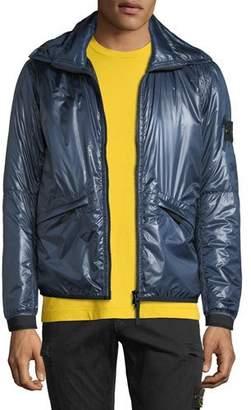 Stone Island Men's Metallic Zip-Front Puffer Jacket