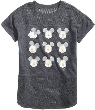 Disney Mickey Mouse Emoji Mesh Top, Big Girls