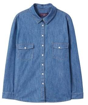 Violeta BY MANGO Dark denim shirt