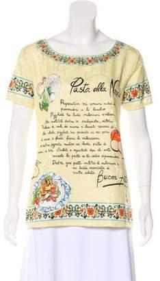 Dolce & Gabbana Pasta alla Norma Silk Top w/ Tags