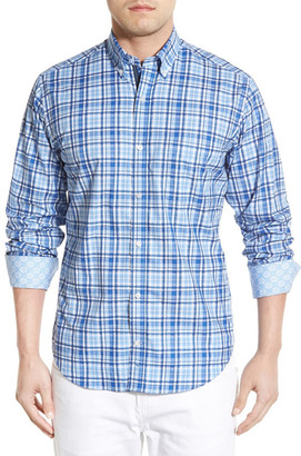 TailorByrd &Sequoia& Regular Fit Long Sleeve Plaid Sport Shirt (Big & Tall) $125 thestylecure.com