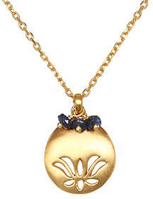 "Satya Lotus Flower Birthstone 18"" Necklace"