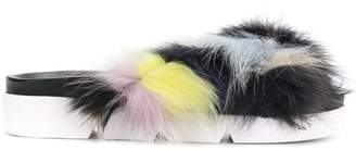 Stuart Weitzman multicoloured strap sandals