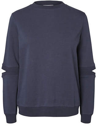 Noisy May Lucky Cut-Out Long-Sleeve Sweater
