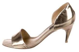 Louis Vuitton Metallic d'Orsay Sandals