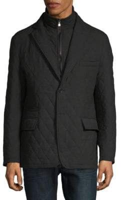 Saks Fifth Avenue Zipper Insert Quilted Jacket
