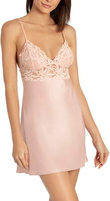Jonquil In Bloom by Lace Trim Satin Chemise