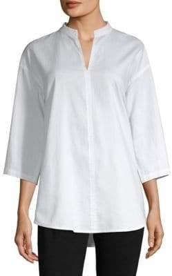 Eileen Fisher Stand Collar Shirt
