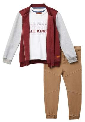 7 For All Mankind All Kinds Tee, Bomber, & Pants Set (Toddler Boys)