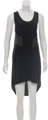 Alexander Wang Silk Cutout Dress Black Silk Cutout Dress