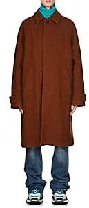 Balenciaga Men's Virgin Wool Melton Opera Trench Coat - Brown