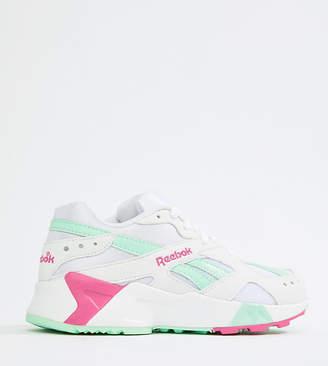 Reebok Exclusive To ASOS Aztrek Sneakers In Green And Pink
