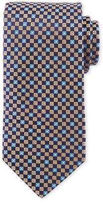 Eton Floral Squares Silk Tie