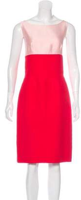 Oscar de la Renta Colorblock Midi Dress