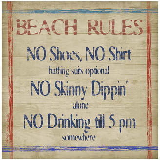 Thirstystone COLLECTION Beach Rules Set of 4 Stoneware Coasters