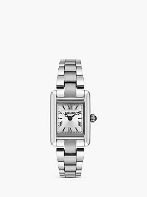 Citizen EG2790-55B Women's Petite Elegance Bracelet Strap Watch, Silver/White