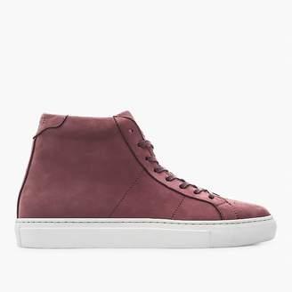 GREATS® Royale high-top sneaker in plum nubuck