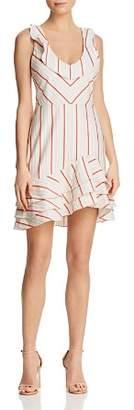 Parker Aldo Striped Flounce Dress