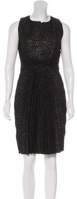 Andrew Gn Metallic Pleated Dress