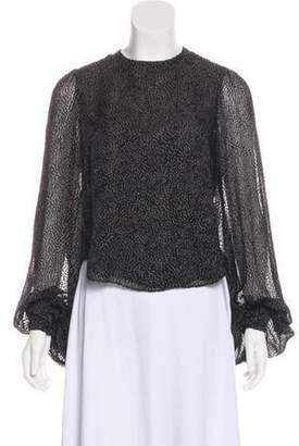 Olympia Le-Tan Larkin Long Sleeve Blouse Black Larkin Long Sleeve Blouse