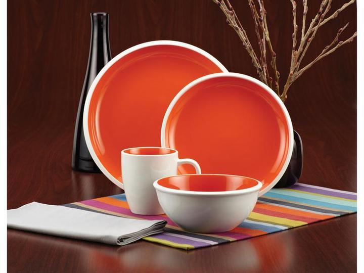 Rachael Ray 16-pc. Rise Dinnerware Set, Orange