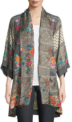 Johnny Was Plus Size Ellamo Embroidered Silk Kimono