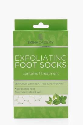 boohoo Tea Tree & Peppermint Exfoliating Foot Socks