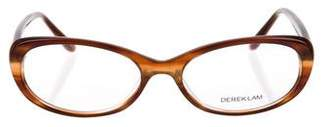 Derek Lam Marbled Oval Eyeglasses