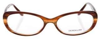 Derek Lam Marbled Oval Eyeglasses