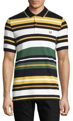 Fred Perry Striped Cotton Polo