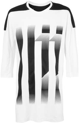 11 By Boris Bidjan Saberi 11 striped T-shirt